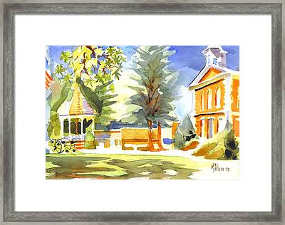 Beautiful Day On The Courthouse Square Framed Print by Kip DeVore