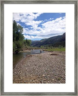 Beautiful Day On The River Framed Print