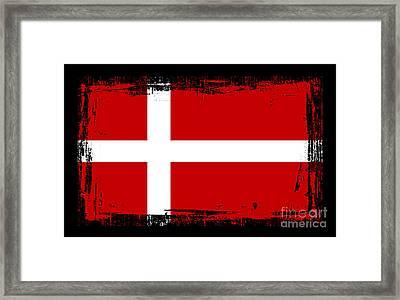 Beautiful Denmark Flag Framed Print by Pamela Johnson