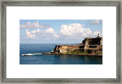 Beautiful El Morro Framed Print by Karen Wiles
