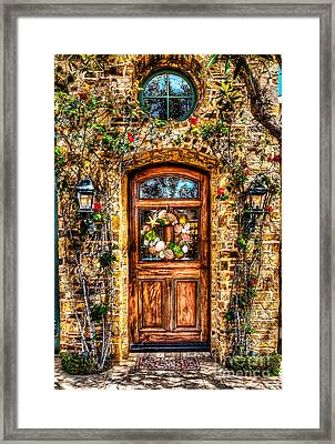 Framed Print featuring the photograph Beautiful Entry by Jim Carrell