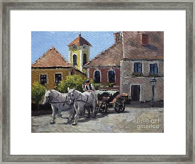 Beautiful European Town Szentendre Framed Print
