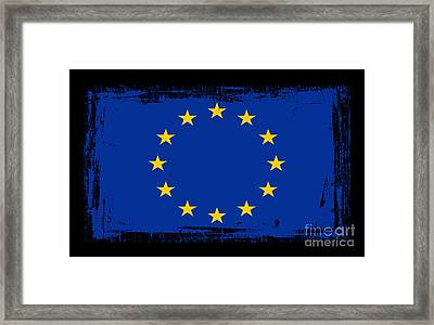 Beautiful European Union Flag Framed Print