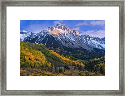 Beautiful Fall Evening Framed Print