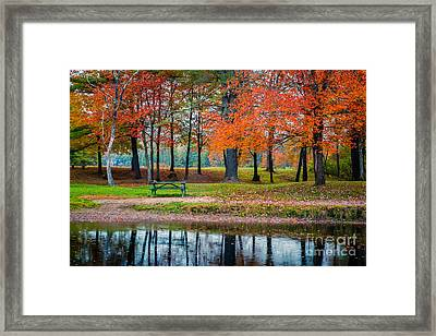 Beautiful Fall Foliage In New Hampshire Framed Print