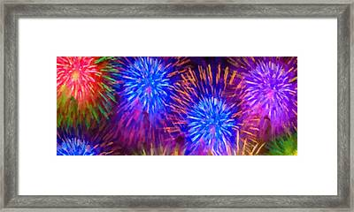 Beautiful Fireworks 10 Framed Print by Lanjee Chee