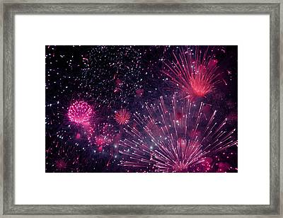 Beautiful Fireworks 12 Framed Print by Lanjee Chee