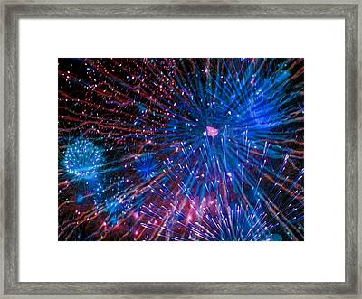 Beautiful Fireworks  2 Framed Print by Lanjee Chee
