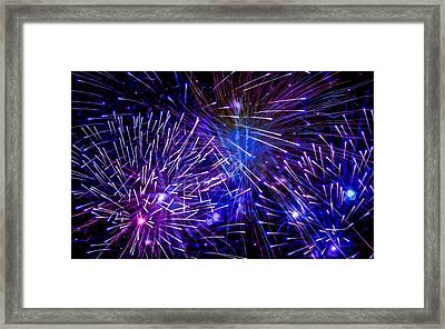 Beautiful Fireworks  3 Framed Print by Lanjee Chee