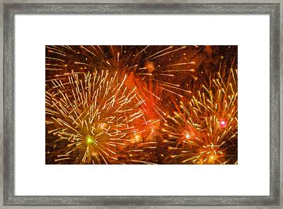 Beautiful Fireworks 4 Framed Print by Lanjee Chee