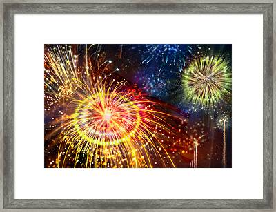 Beautiful Fireworks 8 Framed Print by Lanjee Chee