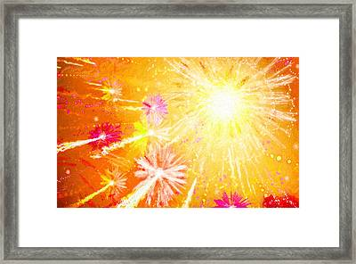 Beautiful Fireworks Framed Print by Lanjee Chee