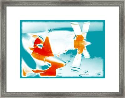Fixed Wing Aircraft Pop Art Poster Framed Print by R Muirhead Art