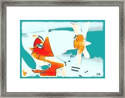 Fixed Wing Aircraft Pop Art Framed Print by R Muirhead Art