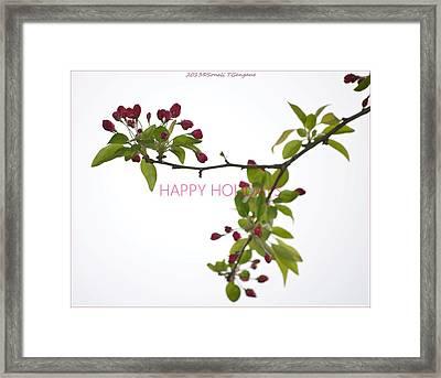 Beautiful Floral Greetings Framed Print by Sonali Gangane