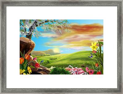 Beautiful Flower Art Framed Print by Boon Mee