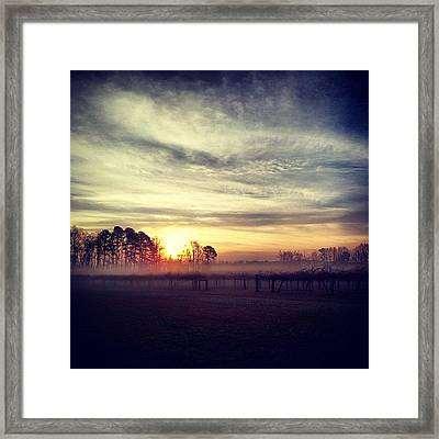 Beautiful Foggy Morning! #fog Framed Print