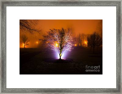 Beautiful Foggy Night 2 Framed Print by Michael Cross
