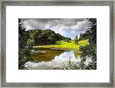 Beautiful Garden Summer Landscape Framed Print