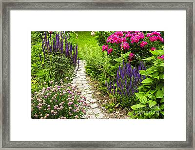 Beautiful Gardening Framed Print by Boon Mee