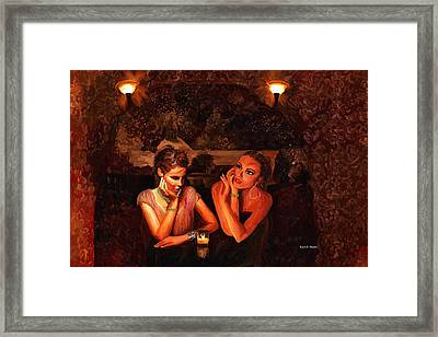 Beautiful Gossipers Framed Print by Angela A Stanton