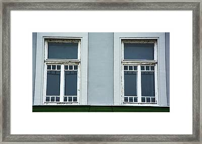 Beautiful Green Windows Framed Print by Newnow Photography By Vera Cepic
