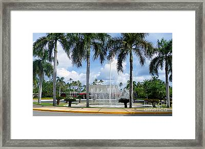 Beautiful Grounds At Barcelo Bavaro Palace Framed Print by Kay Novy