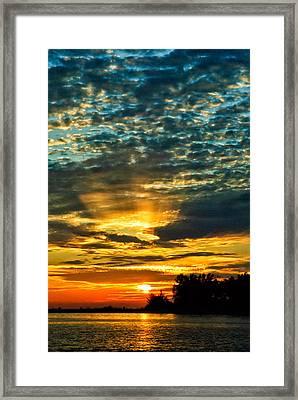 Beautiful Gulf Of Mexico Sunset Framed Print by Louis Dallara