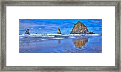 Beautiful Haystack Rock And The Needles Framed Print by David Patterson