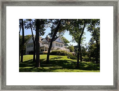 Beautiful Hillside Home Framed Print