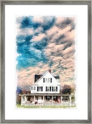 Beautiful Home Rye New Hampshire Framed Print
