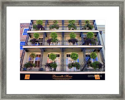 Beautiful Hotel In New Orleans Framed Print by Carol Groenen