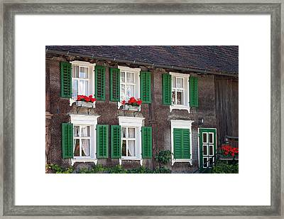Beautiful House In Austria With Decoration Framed Print by Tatyana Tomsickova