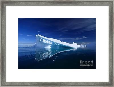 Beautiful Iceberg Framed Print by Boon Mee