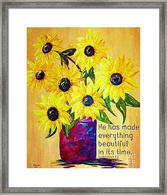 Beautiful In Its Time Framed Print by Eloise Schneider
