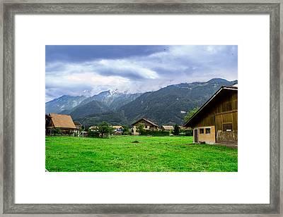 Beautiful Interlaken  Framed Print