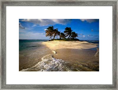 Framed Print featuring the painting Beautiful Island by Bruce Nutting