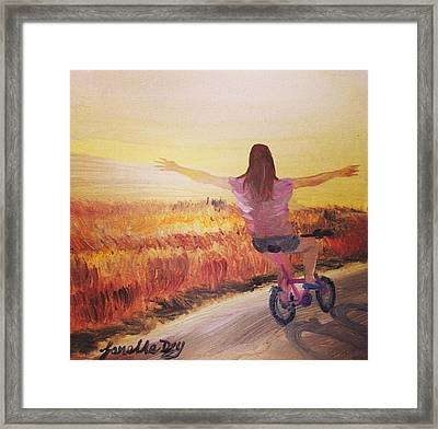 Bike  By Janelle Dey Framed Print by Janelle Dey