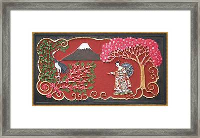 Beautiful Japan Framed Print by Otil Rotcod