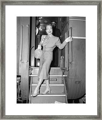 Beautiful Joan Crawford Framed Print by Retro Images Archive
