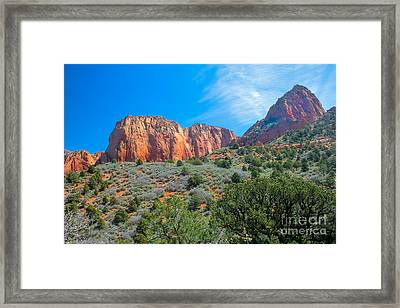 Beautiful Kolob Canyon Framed Print by Robert Bales