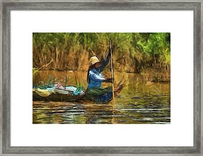 Beautiful Lady Framed Print by Teara Na