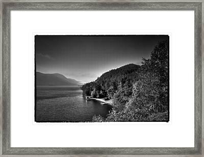 Beautiful Lake George Framed Print by David Patterson