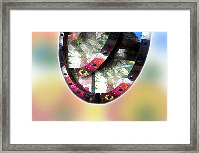 Beautiful Landscape In Mirrors Framed Print by Augusta Stylianou