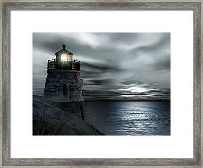 Beautiful Light In The Night Framed Print by Lourry Legarde