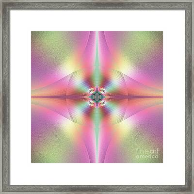 Beautiful Loving And Merciful Eyes Of God Fractal Framed Print by Rose Santuci-Sofranko