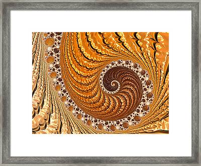 Beautiful Luxe Golden And Brown Spiral Framed Print
