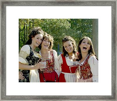 Beautiful Maidens Framed Print