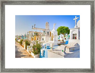 Beautiful Mexican Cemetery In Merida Framed Print by Mark E Tisdale