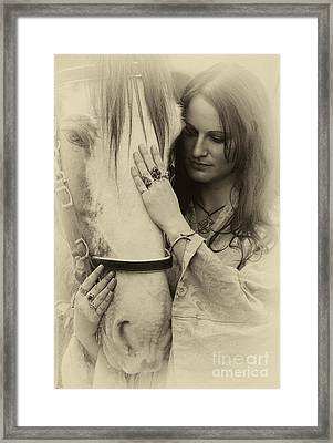A Woman's Touch Framed Print